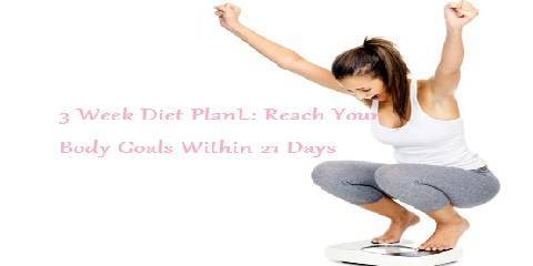 3 week diet plan for weight loss