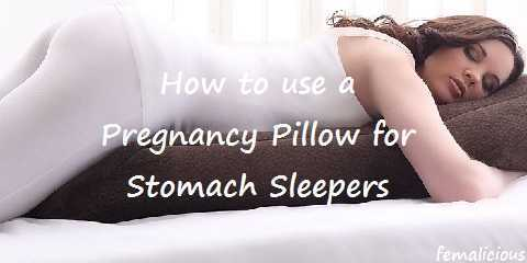 how to use a pregnancy pillow for stomach sleepers