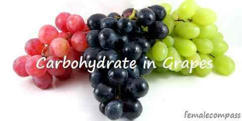 carbs in green black purple red grapes
